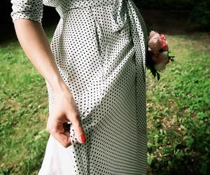 dress, girl, and nails image