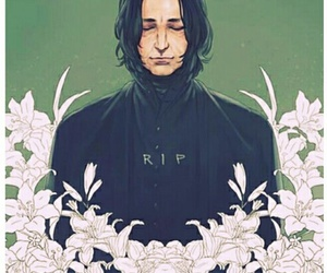 rip, alan rickman, and harry potter image