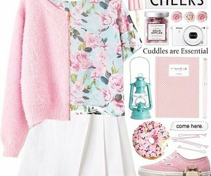 pink, look, and outfit image