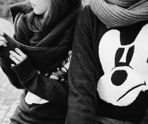 couple, black and white, and boy image