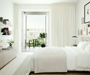 bedroom, decoration, and white image