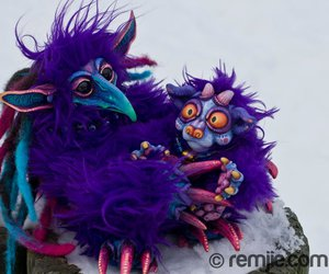 polymer clay, mosters, and custom dolls image