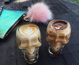 coffee and skull image
