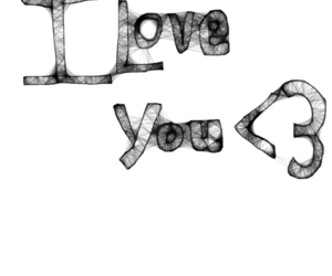 black. and, drawing, and I Love You image