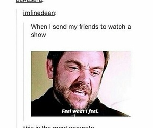funny, supernatural, and crowley image
