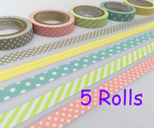 etsy, masking tape, and pink polka dots image