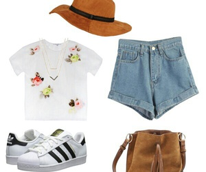 adidas, flowers, and hat image
