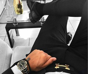 classy, watch, and black image