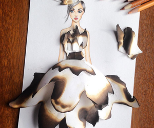 drawning and girl on fire image