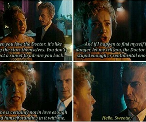 doctor who, peter capaldi, and river song image