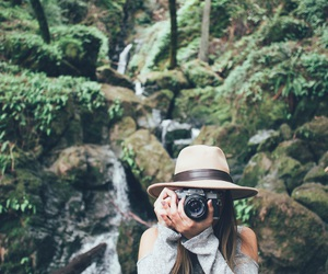 girl, camera, and nature image