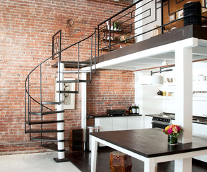 architecture, modern, and spiral staircase image