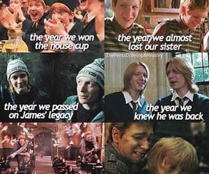 harry potter, weasley, and sad image
