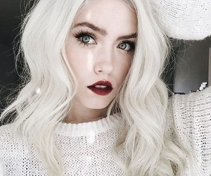 white, beauty, and hair image