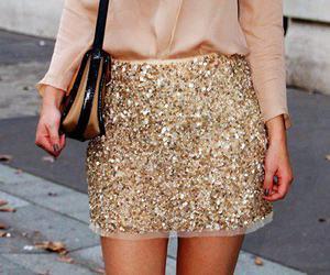 fashion, skirt, and glitter image
