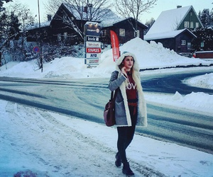 fashion, outfit, and snow image