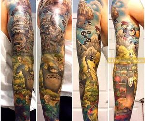 tattoo, anime, and studio ghibli image