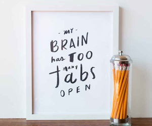 quote, brain, and tabs image