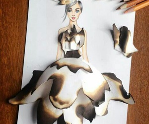 art, burned, and drawing image