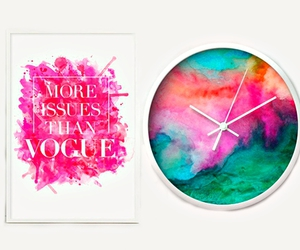 beauty, clock, and colourful image