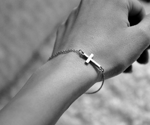 bracelet, cross, and accessories image