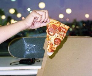 pizza, food, and skate image