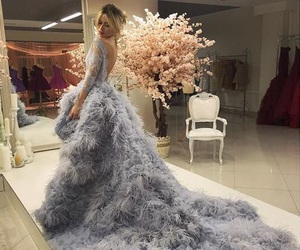 dress, grey, and luxury image