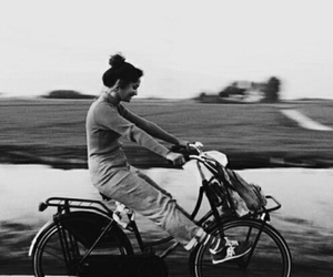 girl, bike, and photography image