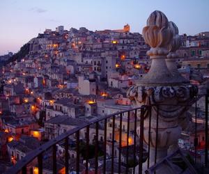 city, lights, and sicilia  image