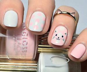nails, cat, and sweet image