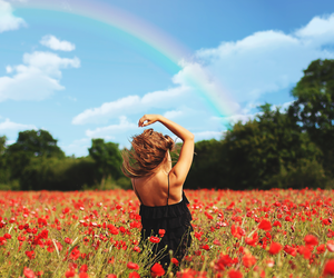 field, girl, and inspiration image