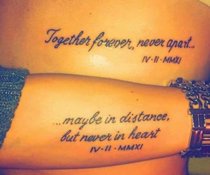 tattoo, distance, and forever image