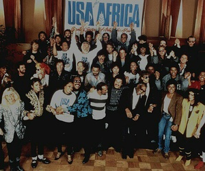 michael jackson, We Are The World, and usa for africa image