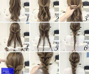 braid, brown, and creative image