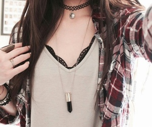 fashion, grunge, and necklace image
