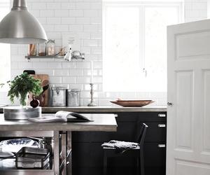 interior, kitchen, and black image