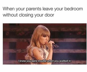 funny, parents, and i knew you were trouble image