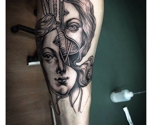 tattoo, art, and girl image