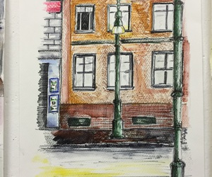 beautiful, house, and draw image