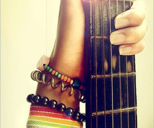 guitar, music, and bracelet image