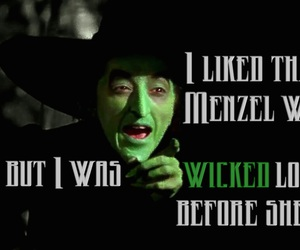 idina menzel, The wizard of OZ, and wicked image