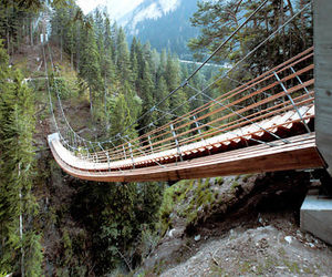 bridge, stairs, and switzerland image
