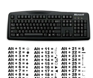 keyboard, symbols, and cool image