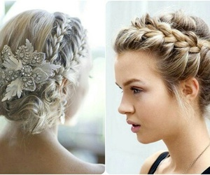 blond, braid, and pretty image