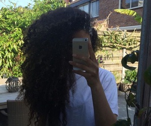 girl and curly hair image