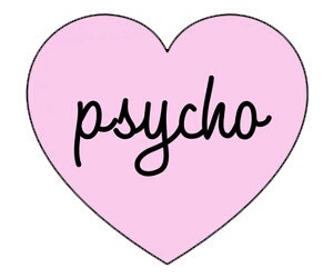 Psycho, heart, and pink image