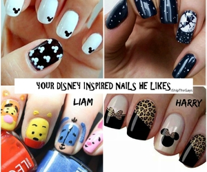 disney nails, niall horan, and preferences image