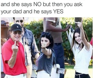 funny, kendall jenner, and kylie jenner image