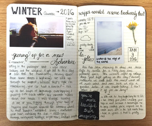 diary, journal, and book image