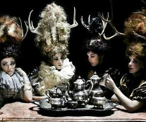 antlers, horns, and tea party image
